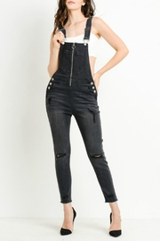 C'Est Toi Distressed Denim Overalls - Product Mini Image