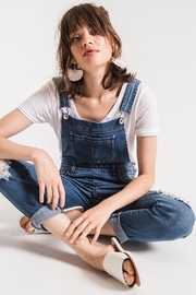Others Follow  Distressed Denim Overalls - Other