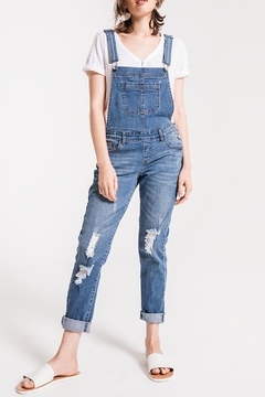 Others Follow  Distressed Denim Overalls - Product List Image
