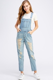 Dance & Marvel Distressed Denim Overalls - Product Mini Image