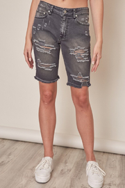 Mustard Seed  Distressed Colored Denim Short - Product Mini Image