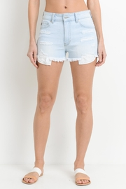 just black Distressed Denim Shorts - Product Mini Image