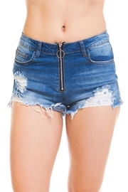 Machine Jeans Distressed Denim Shorts - Product Mini Image