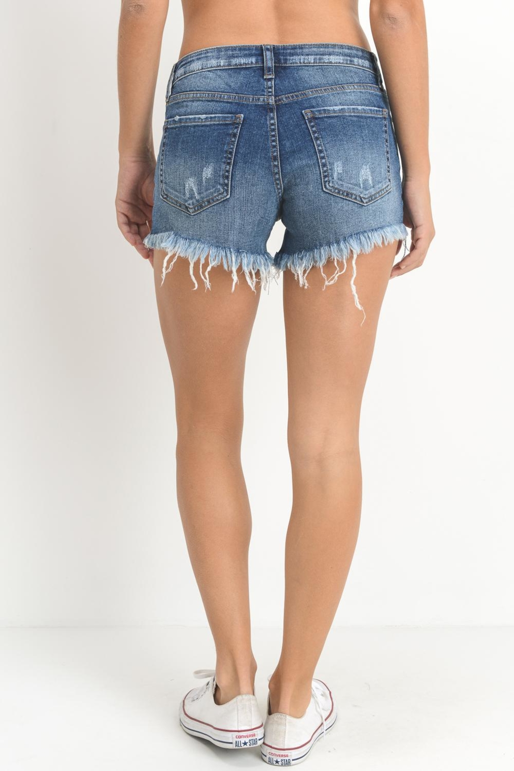 Just USA Distressed Denim Shorts - Side Cropped Image