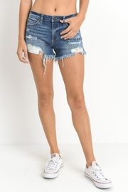 Just USA Distressed Denim Shorts - Front cropped