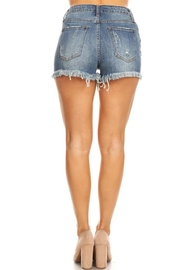 it's me Distressed Denim Shorts - Front full body