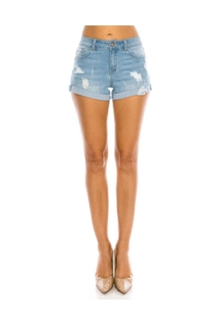 ENJean Distressed Denim Shorts - Product List Image