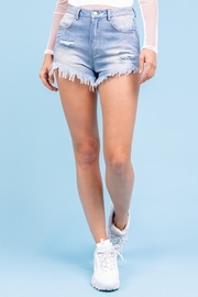 Le Lis Distressed Denim Shorts - Front full body