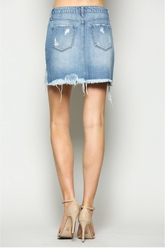 Vervet Distressed Denim Skirt - Alternate List Image