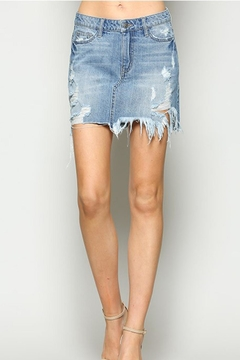 Vervet Distressed Denim Skirt - Product List Image