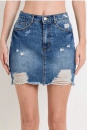 Polly & Esther Distressed Denim Skirt - Product Mini Image