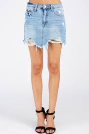 Vervet Distressed Denim Skirt - Product Mini Image