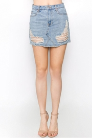 Signature 8 Distressed Denim Skirt - Product Mini Image