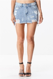 Uniq Distressed Denim Skirt - Product Mini Image