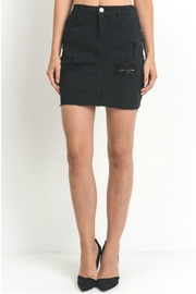 C'Est Toi Distressed Denim Skirt - Product Mini Image