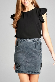 Minx Distressed Denim Skirt - Product Mini Image