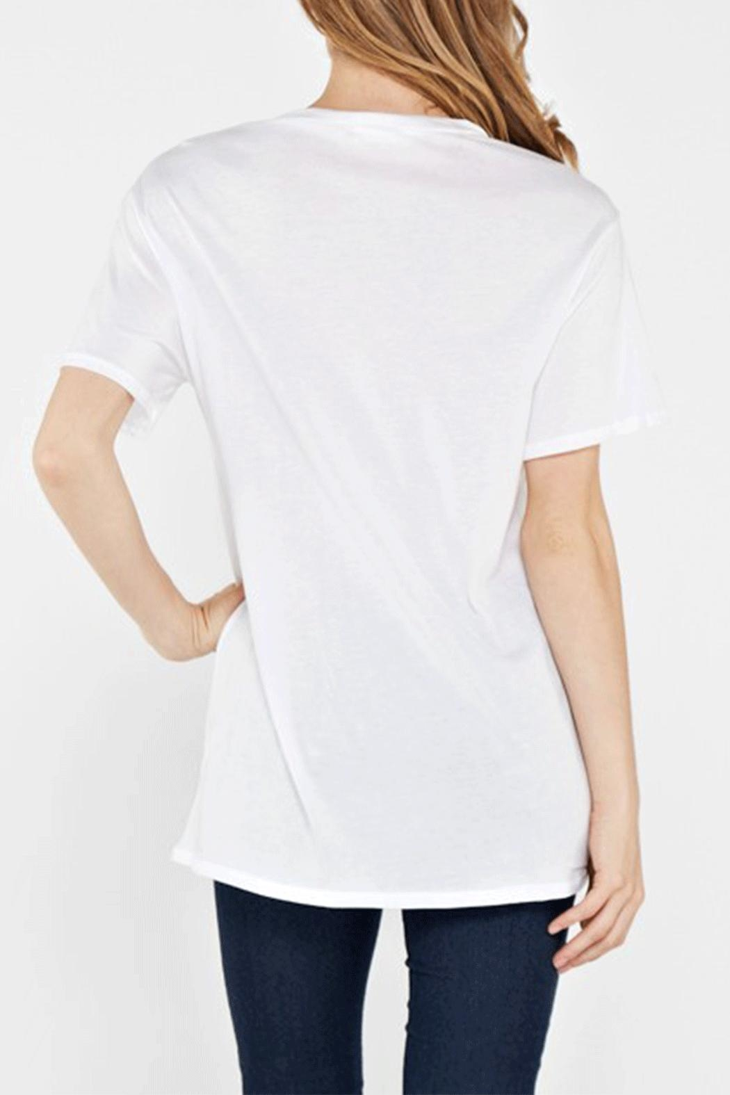 Maronie  Distressed Detail Tee - Front Full Image