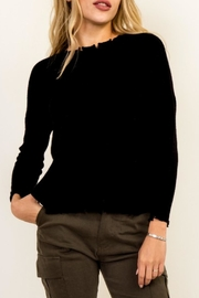 Olivaceous Distressed Dolman Sweater - Product Mini Image