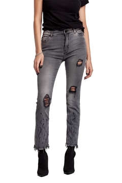 Moon Distressed Painted & Embellished Denim - Product List Image
