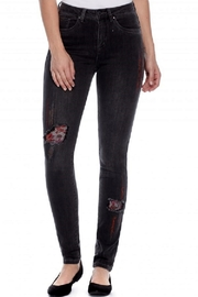 French Dressing Jeans Distressed embroidered Jean - Front cropped