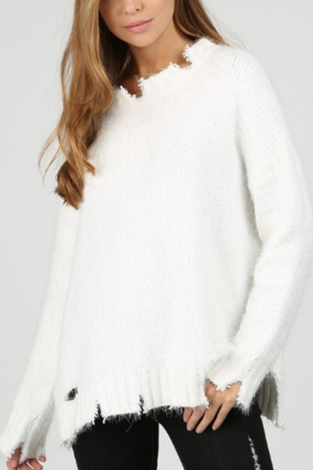 bb7f9f930c2 POL Distressed Eyelash Sweater from New York by Runway   Rose ...