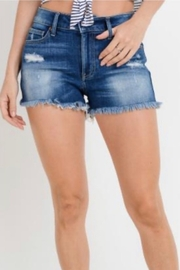 Letters to Juliet Distressed Frayed Hem Denim Shorts - Product Mini Image