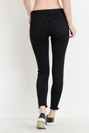 just black Distressed Frayed Skinny - Other