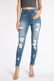 Kan Can DISTRESSED GEMMA HIGH RISE - Product Mini Image