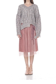 Zero Degrees Celsius Distressed Glitter Sweater - Front cropped