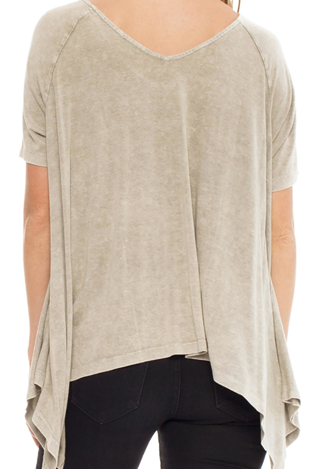 Anama Distressed Handkerchief Tee - Front Full Image