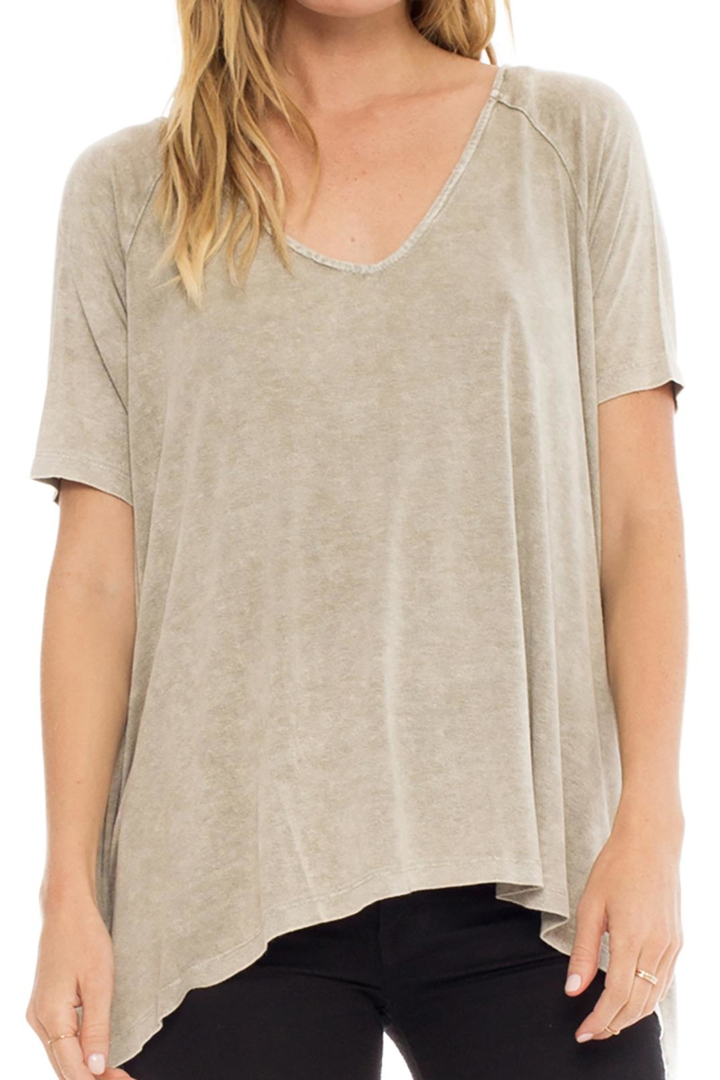 Anama Distressed Handkerchief Tee - Front Cropped Image