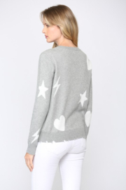 Fate  Distressed Heart and Star Sweater - Product Mini Image