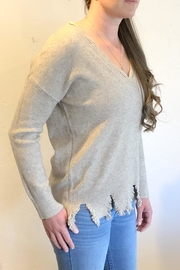 Sisters Knits Distressed Hem Sweater - Front cropped