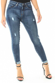 Funky Soul Distressed Hi Rise Jean - Front cropped
