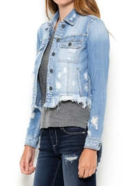 Hidden Jeans Distressed Jean Jacket - Front cropped