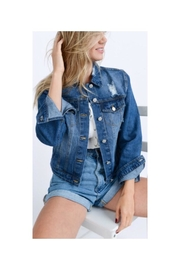 Love Tree Distressed Jean Jacket - Product Mini Image