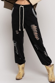 POL Distressed Jogger Pants - Product Mini Image