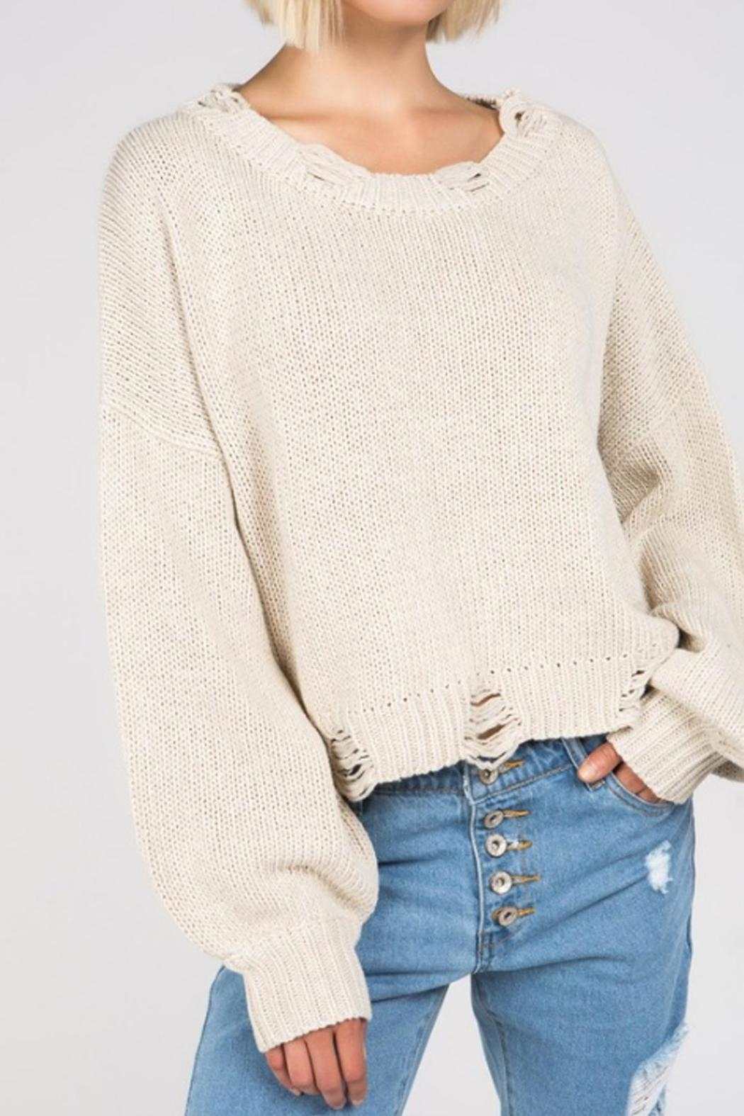 a8333834c83a0 POL Distressed Knit Sweater from New York by Runway   Rose — Shoptiques