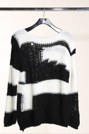 Solution Distressed Knit Sweater - Product Mini Image