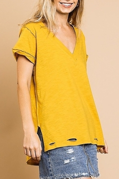 Shoptiques Product: Distressed Knit Tee