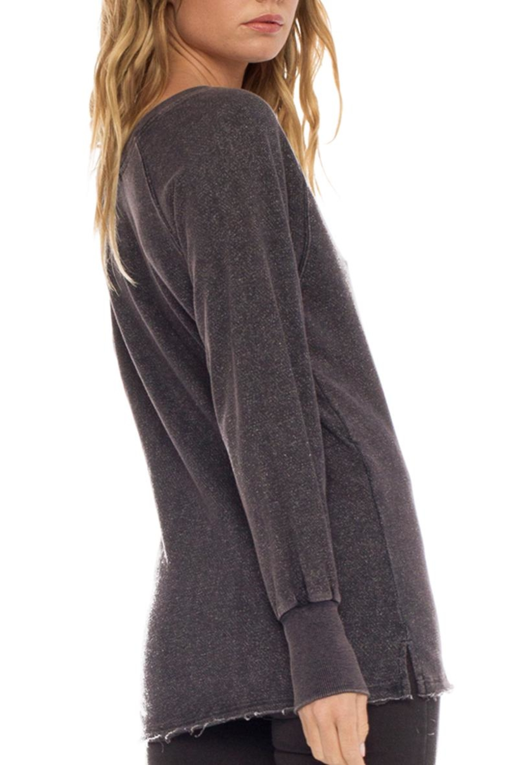 Anama Distressed Lace-Trim Sweater - Front Full Image