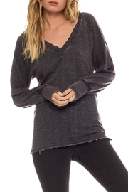 Anama Distressed Lace-Trim Sweater - Front cropped
