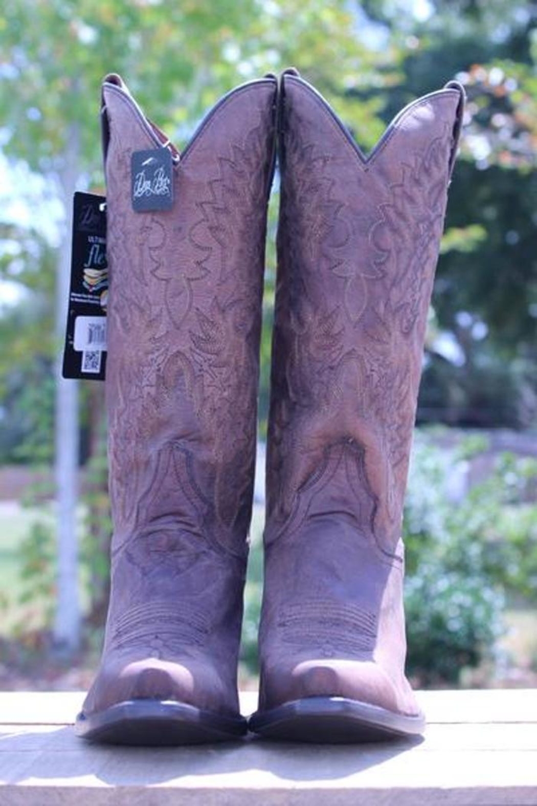 Dan Post Boot Company Distressed Leather Boots - Front Full Image