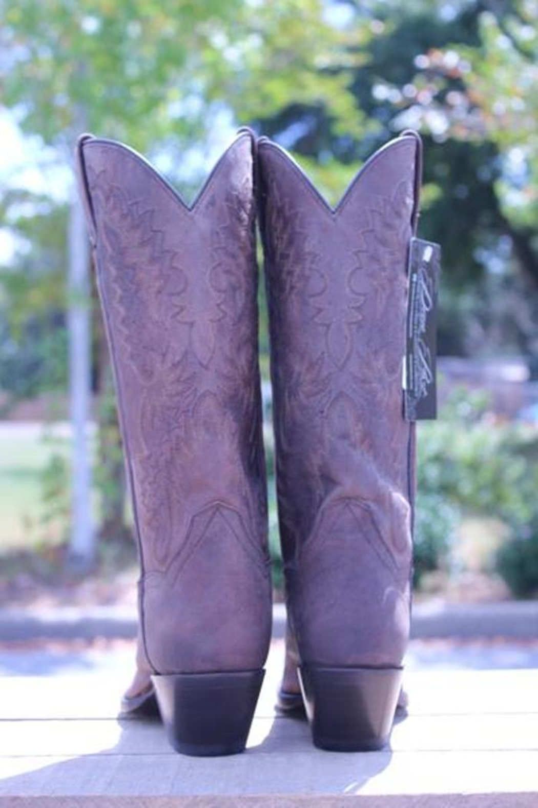 Dan Post Boot Company Distressed Leather Boots - Side Cropped Image