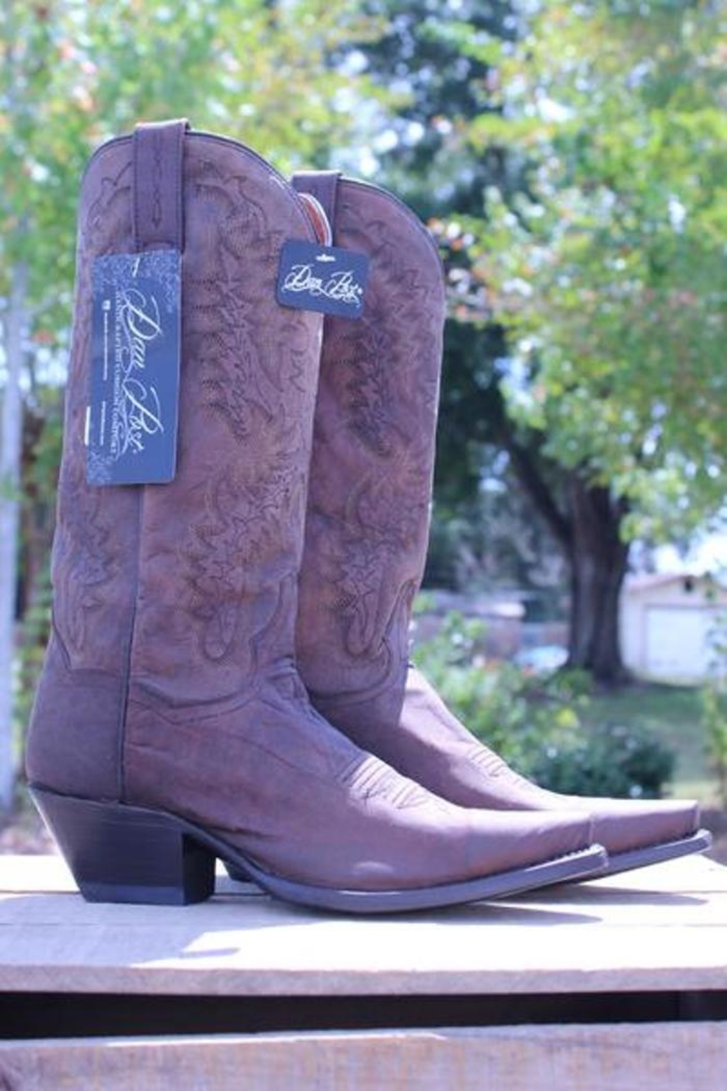 Dan Post Boot Company Distressed Leather Boots - Front Cropped Image