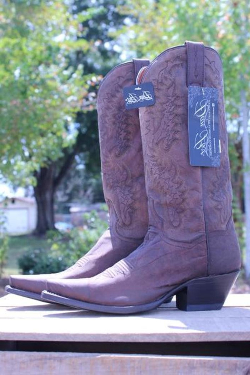 Dan Post Boot Company Distressed Leather Boots - Main Image