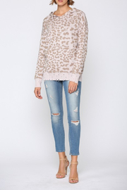 Fate Distressed Leopard Hooded Sweater - Product Mini Image