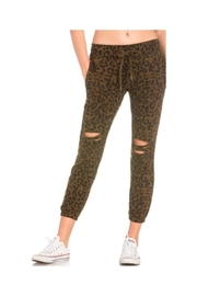 Dance & Marvel Distressed Leopard Joggers - Product Mini Image