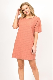 Very J  Distressed Linen Dress - Front cropped