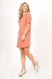 Very J  Distressed Linen Dress - Back cropped